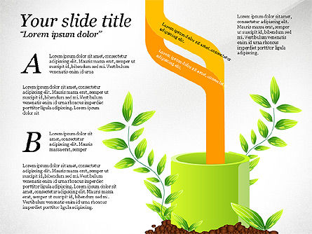 Sprout Infographics, Slide 6, 03492, Infographics — PoweredTemplate.com