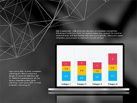 Flat Designed Creative Report Deck, Slide 12, 03493, Presentation Templates — PoweredTemplate.com