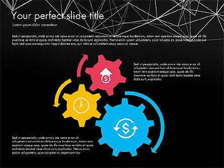 Flat Designed Creative Report Deck, Slide 13, 03493, Presentation Templates — PoweredTemplate.com