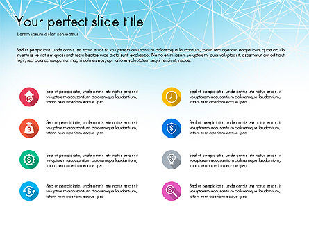 Flat Designed Creative Report Deck, Slide 2, 03493, Presentation Templates — PoweredTemplate.com