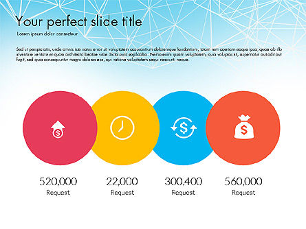 Flat Designed Creative Report Deck, Slide 3, 03493, Presentation Templates — PoweredTemplate.com