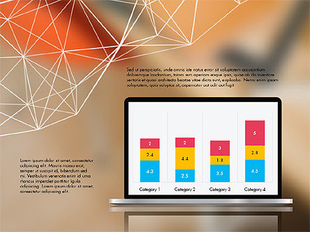 Flat Designed Creative Report Deck, Slide 4, 03493, Presentation Templates — PoweredTemplate.com