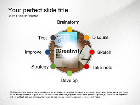 Creativity Stages Presentation, 03496, Presentation Templates — PoweredTemplate.com
