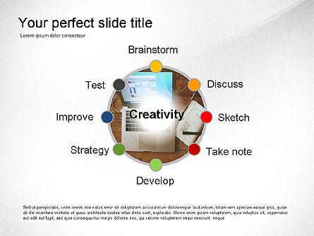 Presentation Templates: Présentation des étapes de la créativité #03496