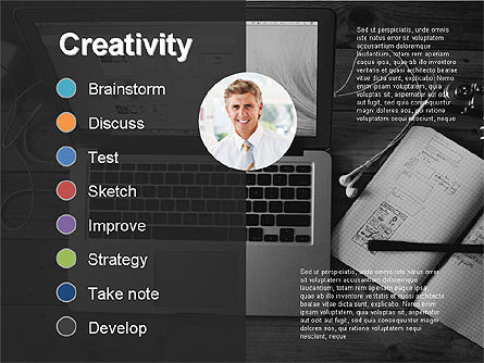 Creativity Stages Presentation, Slide 14, 03496, Presentation Templates — PoweredTemplate.com