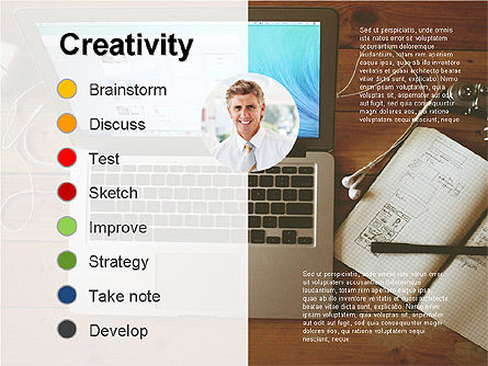 Creativity Stages Presentation, Slide 6, 03496, Presentation Templates — PoweredTemplate.com