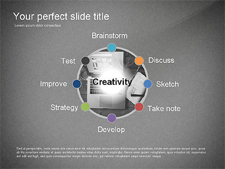 Creativity Stages Presentation, Slide 9, 03496, Presentation Templates — PoweredTemplate.com