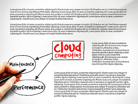 Cloud Computing Diagram, Slide 3, 03500, Business Models — PoweredTemplate.com