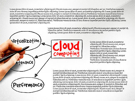 Cloud Computing Diagram, Slide 4, 03500, Business Models — PoweredTemplate.com