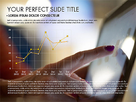 Marketing Presentation with Data Driven Charts, Slide 2, 03504, Presentation Templates — PoweredTemplate.com