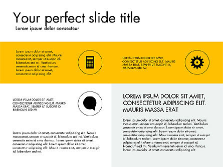Grid Layout Presentation Concept, 03505, Presentation Templates — PoweredTemplate.com
