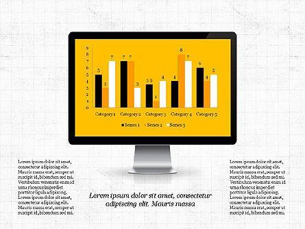 Representation in Flat Design, Slide 2, 03509, Presentation Templates — PoweredTemplate.com