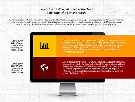 Representation in Flat Design, Slide 3, 03509, Presentation Templates — PoweredTemplate.com