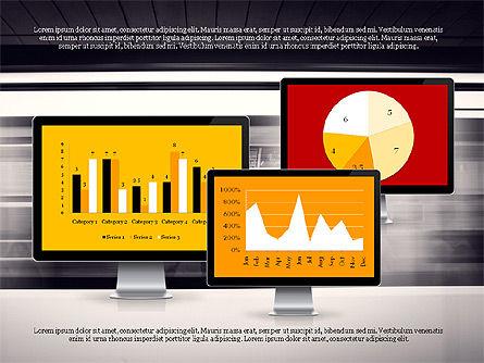 Representation in Flat Design, Slide 4, 03509, Presentation Templates — PoweredTemplate.com