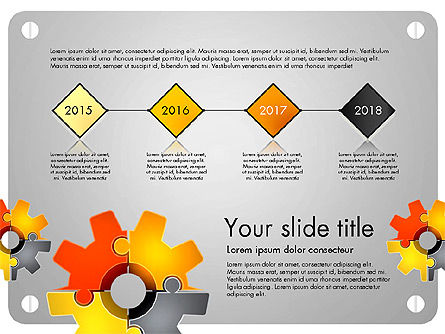 Cogwheel Puzzle Presentation Concept, 03510, Presentation Templates — PoweredTemplate.com