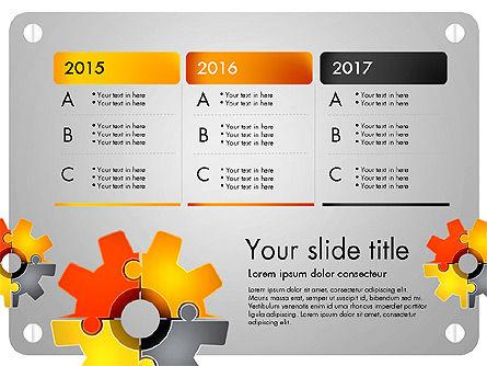 Cogwheel Puzzle Presentation Concept, Slide 3, 03510, Presentation Templates — PoweredTemplate.com