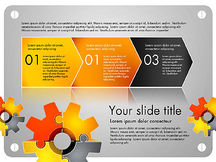 Cogwheel Puzzle Presentation Concept, Slide 4, 03510, Presentation Templates — PoweredTemplate.com