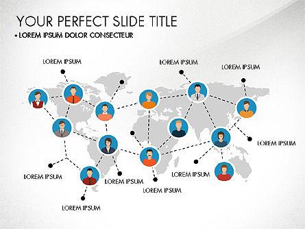 Presentation Templates: Business rede slide deck #03513