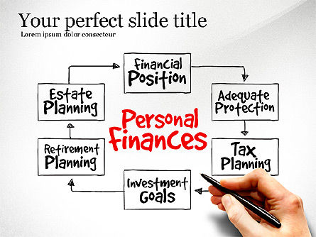 Personal Finances Diagram, 03515, Business Models — PoweredTemplate.com