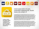 Icons: Présentation de l'immobilier avec des icônes #03517