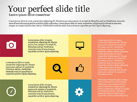 Grid Layout Colored Presentation Template, Slide 2, 03518, Presentation Templates — PoweredTemplate.com