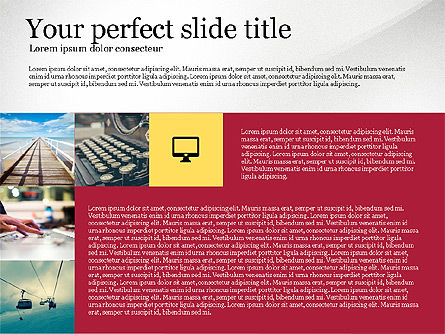 Grid Layout Colored Presentation Template, Slide 3, 03518, Presentation Templates — PoweredTemplate.com