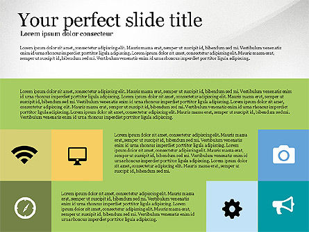 Grid Layout Colored Presentation Template, Slide 4, 03518, Presentation Templates — PoweredTemplate.com