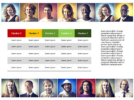 Data Driven Report with People Portraits, Slide 3, 03521, Data Driven Diagrams and Charts — PoweredTemplate.com