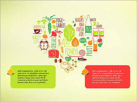 Healthy Lifestyle Presentation Template, 03522, Presentation Templates — PoweredTemplate.com