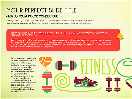 Healthy Lifestyle Presentation Template, Slide 4, 03522, Presentation Templates — PoweredTemplate.com
