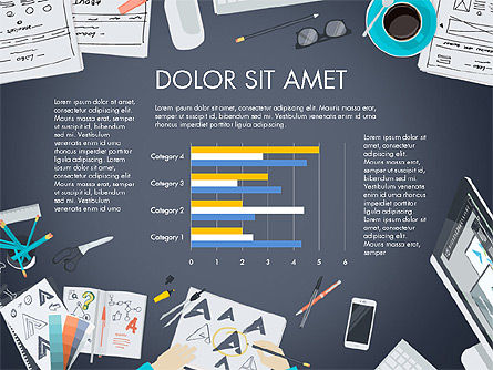 Workplace Top View Data Driven Presentation, Slide 4, 03523, Data Driven Diagrams and Charts — PoweredTemplate.com
