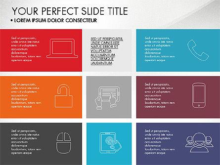 Grid Layout Flat Designed Presentation, 03524, Presentation Templates — PoweredTemplate.com