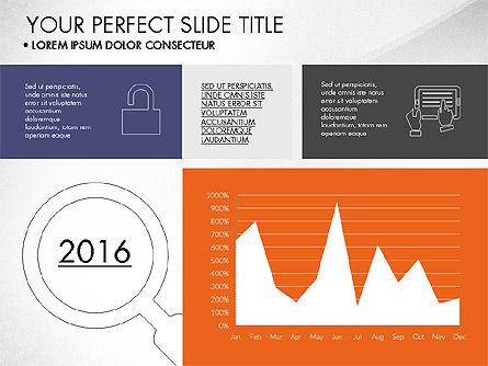 Grid Layout Flat Designed Presentation, Slide 3, 03524, Presentation Templates — PoweredTemplate.com