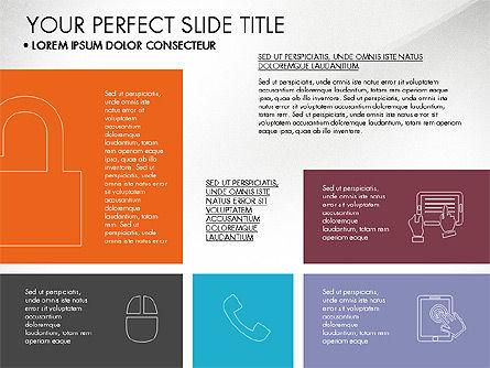 Grid Layout Flat Designed Presentation, Slide 4, 03524, Presentation Templates — PoweredTemplate.com