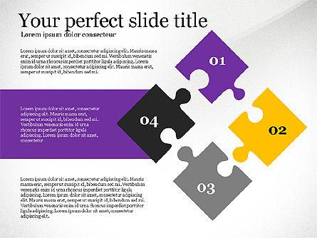 Presentation Concept with Puzzle Pieces, Slide 2, 03530, Puzzle Diagrams — PoweredTemplate.com