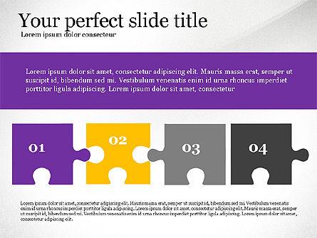 Presentation Concept with Puzzle Pieces, Slide 4, 03530, Puzzle Diagrams — PoweredTemplate.com