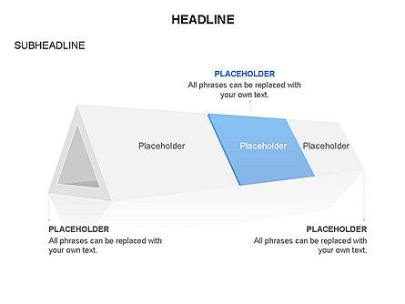 Hollow Triangle Diagram, Slide 3, 03541, Stage Diagrams — PoweredTemplate.com