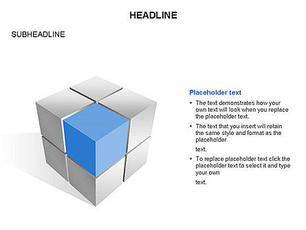 Cube Diagram, 03542, Shapes — PoweredTemplate.com