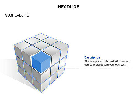 Cube Diagram, Slide 4, 03542, Shapes — PoweredTemplate.com