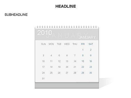 PowerPoint Calendar Template, 03548, Timelines & Calendars — PoweredTemplate.com