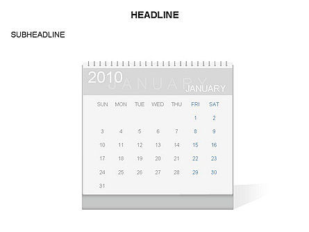 Timelines & Calendars: PowerPoint Calendar Template #03548