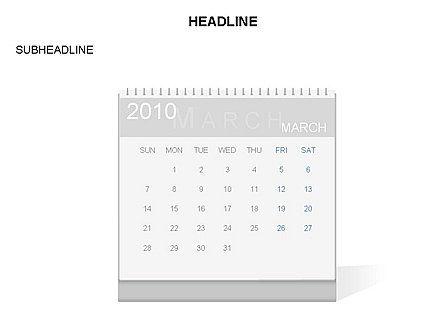 PowerPoint Calendar Template, Slide 3, 03548, Timelines & Calendars — PoweredTemplate.com
