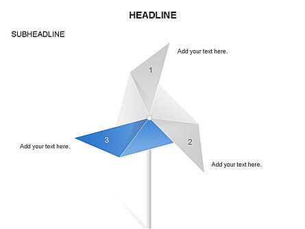 Paper Wind Fan Diagram, 03566, Stage Diagrams — PoweredTemplate.com