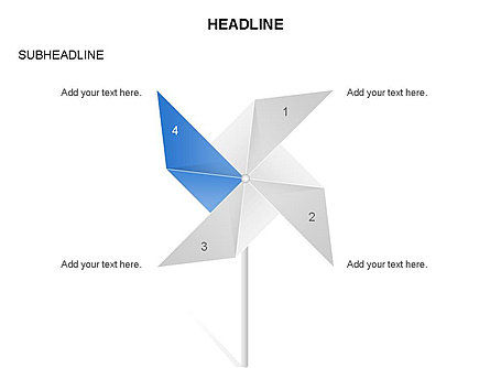 Paper Wind Fan Diagram, Slide 2, 03566, Stage Diagrams — PoweredTemplate.com