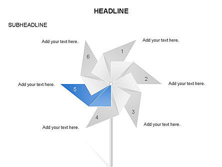 Paper Wind Fan Diagram, Slide 4, 03566, Stage Diagrams — PoweredTemplate.com