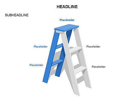 Folding Ladder Diagrams, Slide 2, 03569, Shapes — PoweredTemplate.com