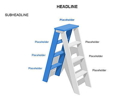 Folding Ladder Diagrams, Slide 3, 03569, Shapes — PoweredTemplate.com