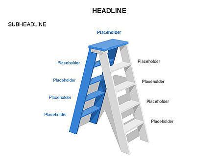 Folding Ladder Diagrams, Slide 4, 03569, Shapes — PoweredTemplate.com