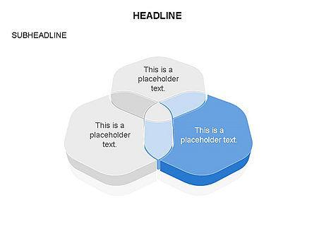 Overlapping Rounded Hexagon, Slide 2, 03589, Shapes — PoweredTemplate.com
