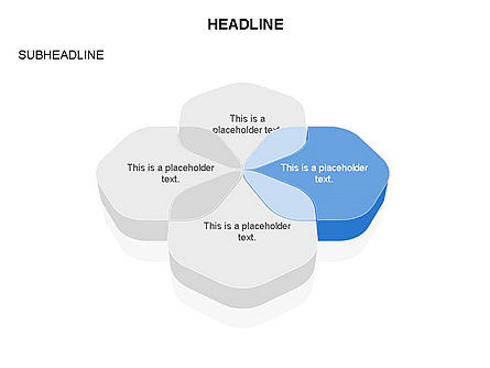 Overlapping Rounded Hexagon, Slide 3, 03589, Shapes — PoweredTemplate.com